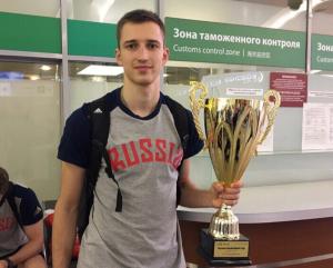 Григорий Мотовилов привез кубок из Вероны в Москву